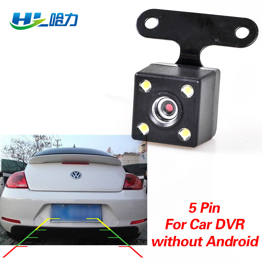 Car Rear View Camera with 5 pin for Car DVR Dashcam without Android System Waterproof 2.5mm Jack Rear Camera Parking Camera xycing car dvr 360 degree rotating suction cup bracket car holder 3 pin connector for g50 g55 g52d gs52d car dvr camera