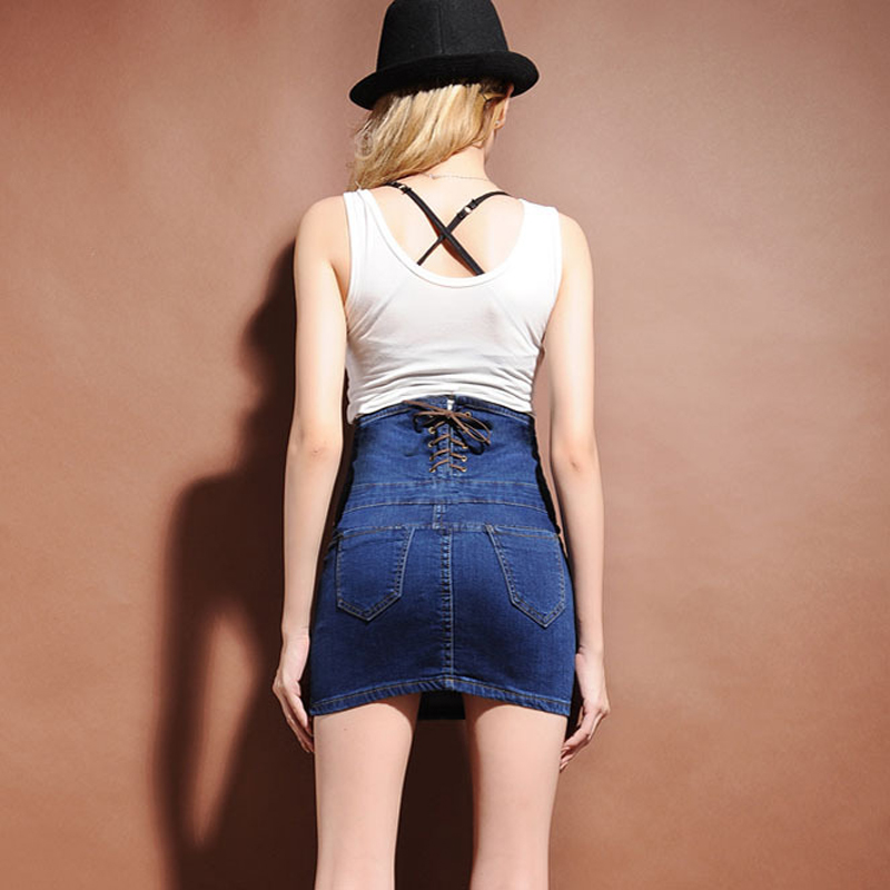 7dc2535c69b Sokotoo Women s plus large size ultra high waist denim skirt Lady s mini  pencil package hip skirt Free shipping-in Skirts from Women s Clothing on  ...