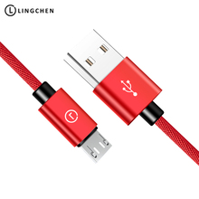 LINGCHEN Micro Usb Cable 2.1A Data Cable For Xiaomi Premium Usb Micro Mobile Phone Cables 1M/2M/25CM For Samsung For Huawei