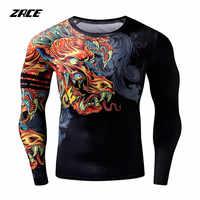 Fantasia cosplay engraçado t camisas estilo chinês dragão 3d t camisa moda hip hop festa marca roupas dos homens mais roupas de fitness