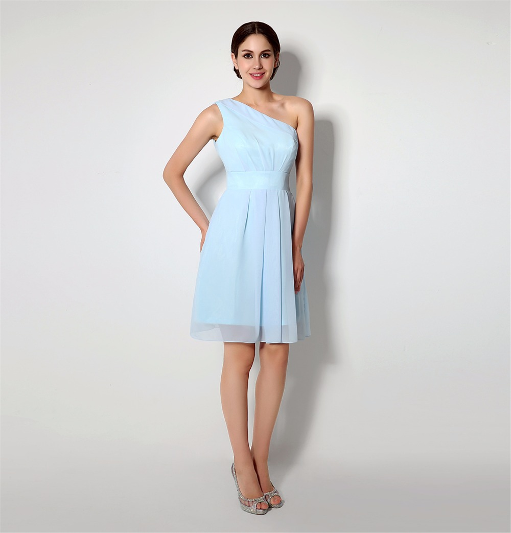 knee length bridesmaid dresses light blue