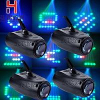 4PCS LED Small Airship Manual/ 64 RGBW Color Changing 10W LED Moonflower Lighting/ Magic Pattern Stage Light/Xmas Party lighting