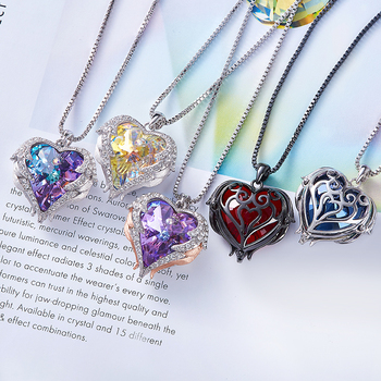 CDE Pendant Embellished with crystals from Swarovski Heart Necklace 2