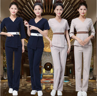 SPA Workwear 2pcs Sets Autumn and winter Massage Work Uniform Sets Female Hospital Nurse Uniforms Wholesales Beauty Clothing