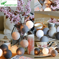 CHASANWAN 3 M 20 Light Line Ball String Garland Christmas Decorations For Home New Year S