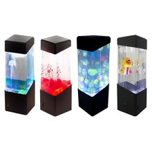 Home decoration Motion Lamp Jellyfish Lamp Aquarium LED tank Desk Lamp Night Light Bedside Table Night Light For Aquarium2049 rose flower table lamp wedding decoration led night light heart shape luminaria bedside desk lamp for holiday christmas gift