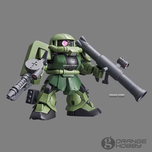 Image 4 - OHS Bandai SD CS Q Ver. Gundam Çapraz Siluet Zaku II SD Çerçeve Dahil Mobil Takım Elbise Montaj Modeli Kitleri