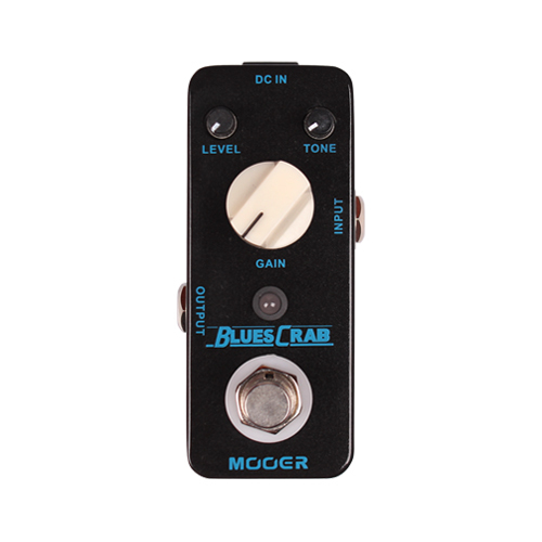 Mooer Single Classic Blues Crab Effects Sound Characteristic Overdrive Guitar Effect Pedal True Bypass mooer ensemble queen bass chorus effects effect pedal true bypass rate knob high quality components depth knob rich sound