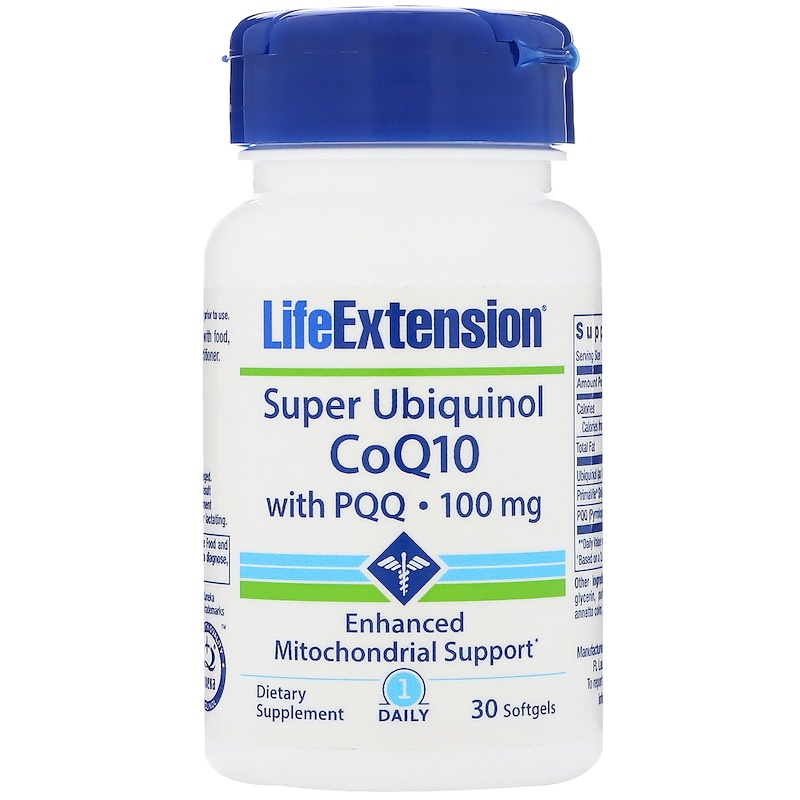 Free shipping super ubiquinol CoQ10 with PQQ 100 mg 30 pcs