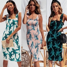 2019 Womens Summer Boho Maxi Midi Dress Evening Party Beach Dresses Sundress Floral Backless