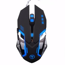 Gaming Mouse Ajustable 3200 DPI 6 Buttons Optical High-grade USB Wired Game Mouse Gamer 4 Color Breathing  Light