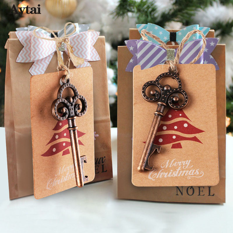 Aytai 10sets New Year Gift Metal Opener Key DIY Tags ...