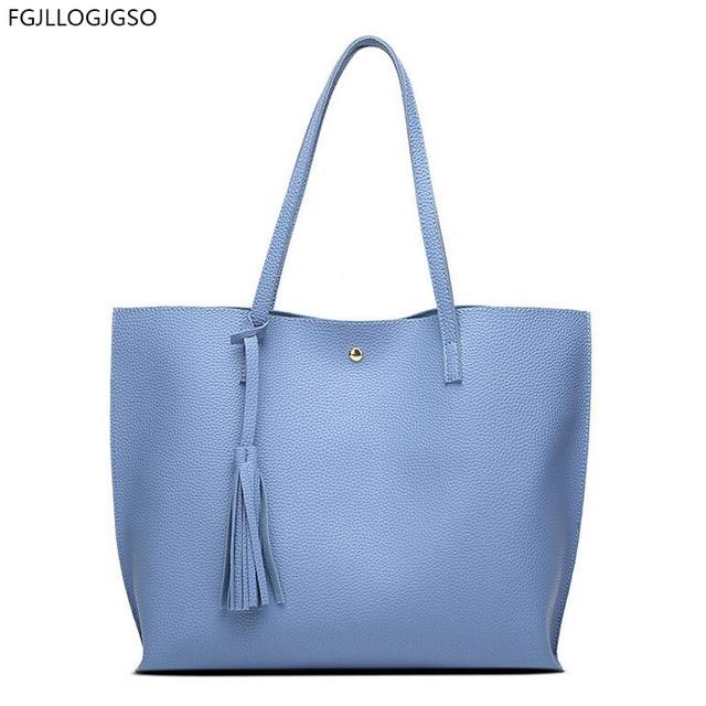 2017 High Quality Blue Pu Fabric Fashionable And Minimalist Handbag Large Capacity Bag Luxury Handbags Women
