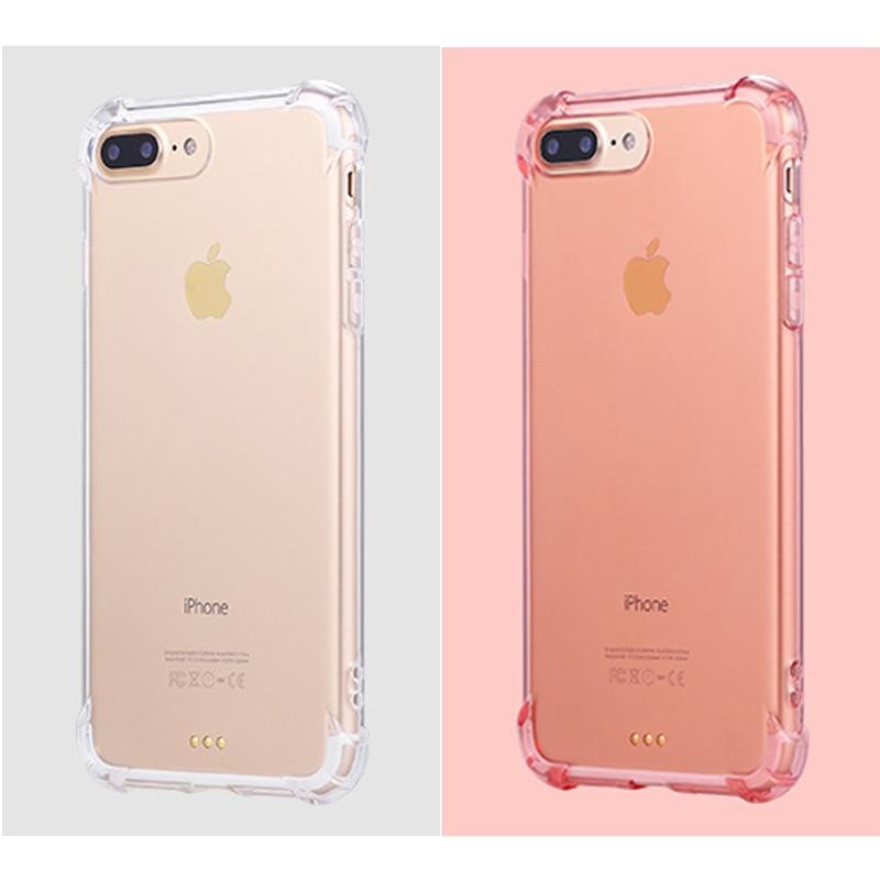 (10 pieces / lot) Transparan Tutup Kasus Untuk iPhone 7 7 Ditambah - Aksesori dan suku cadang ponsel - Foto 3