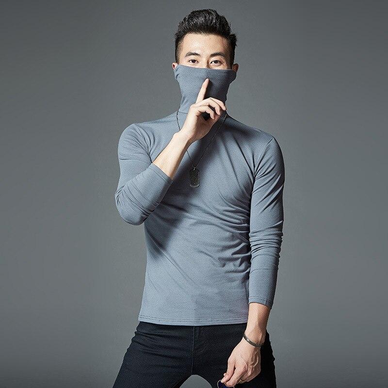 2018 новейшие высококачественные футболки с длинными рукавами Для мужчин cofortable хлопок M1701-M1723