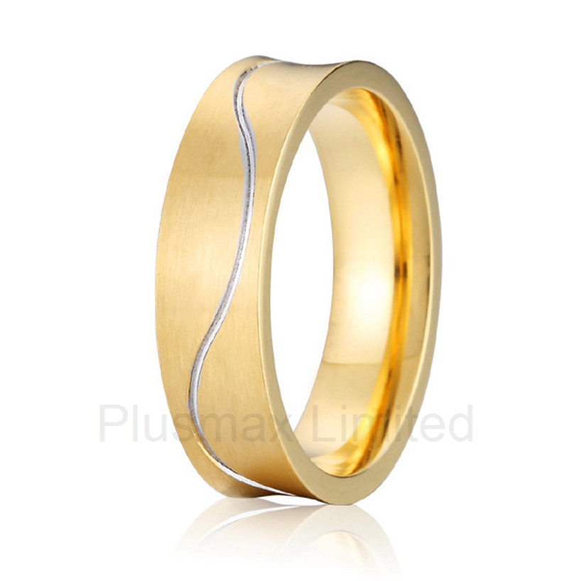 anel masculino ouro cheap pure titanium jewelry handcrafted unique shape mens wedding band fashion rings anel de casamento cheap pure titanium satin surface gold color colorful stone cheap pure titanium promise wedding band rings
