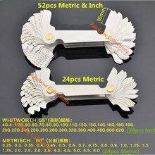 Зубчатые метрические зубные Калибровочные дюймовые модели резьбы ребристый узор резьбомер 55 градусов 60 градусов резьбомер резьбовые брекеты