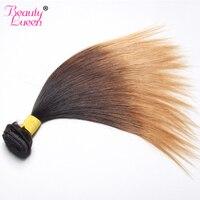 Ombre Brezilyalı Düz Saç Demetleri 3 Ton Bal Sarışın Ombre Olmayan Remy Saç Demetleri 100% Insan Saç Uzatma 1B 4/27