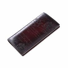 TERSE_2017 New Arrival Wallet Handmade Leather Wallet Genuine Leather Men Purse Long Lettering Wallet custom service