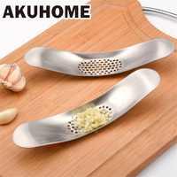 Gadgets de cuisine en acier inoxydable ail presse concasseur outils de cuisson manuel ail hachoir hacher fruits légumes outils