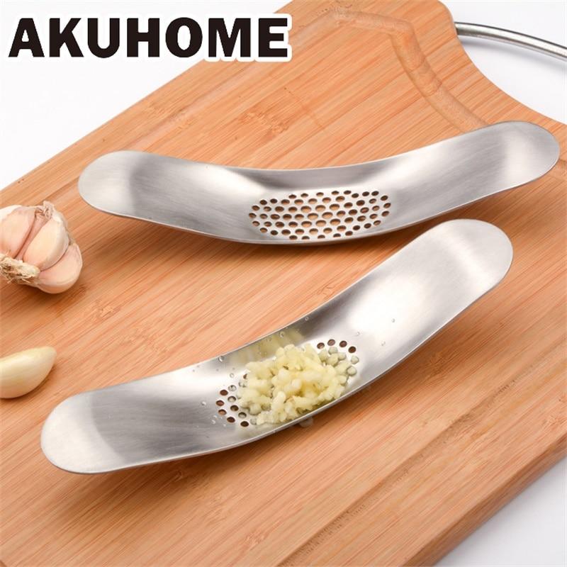 Кухня гаджеты нержавеющая сталь Чеснок Пресс дробилка инструменты для приготовления пищи