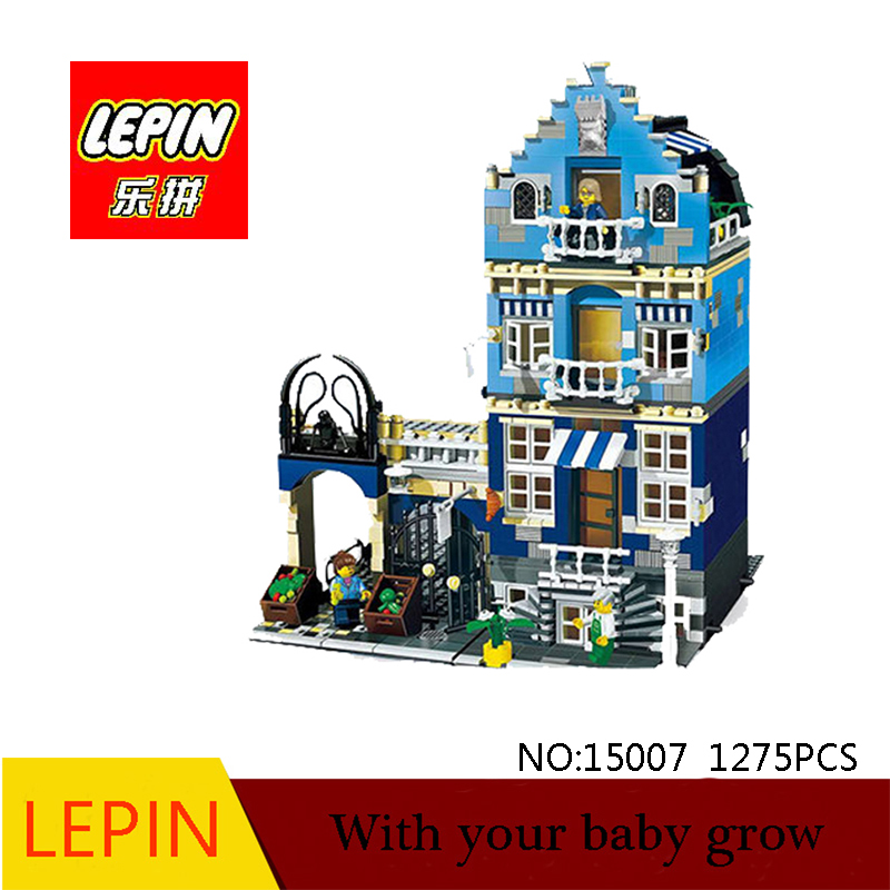 DHL Lepin 15007 1275PCS Factory City Street European Market Model Building Block Set Assembling Brick Kits Compatible 10190  trendyangel 15007