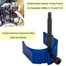 Chuang Qian Aluminum Alloy for Caterpillar 3406E 9U-7227 CAT C-15 C-16 Height Tool Diesel Engine Injector Timing Fixture (Blue)
