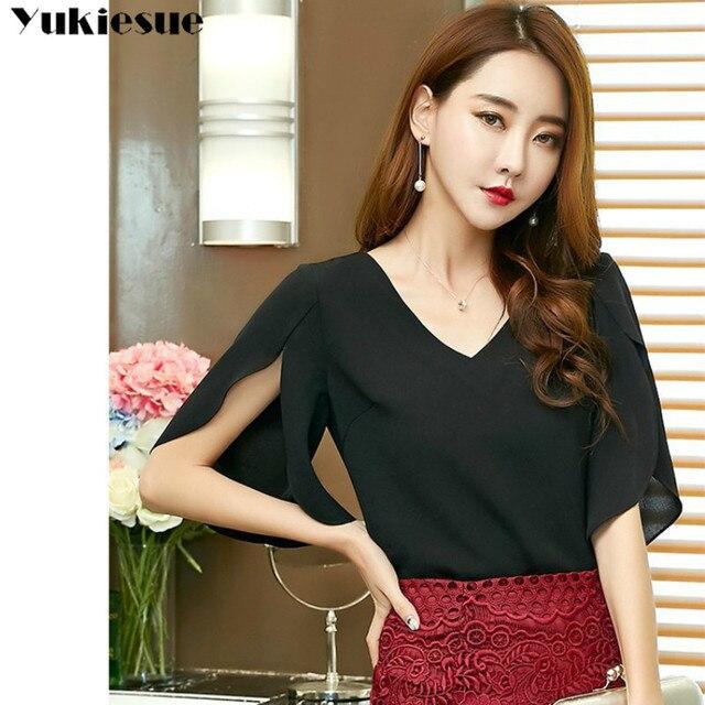 fashion woman blouses 2019 summer women's shirt blouse for women blusas womens tops and blouses chiffon shirts ladie's plus size 3