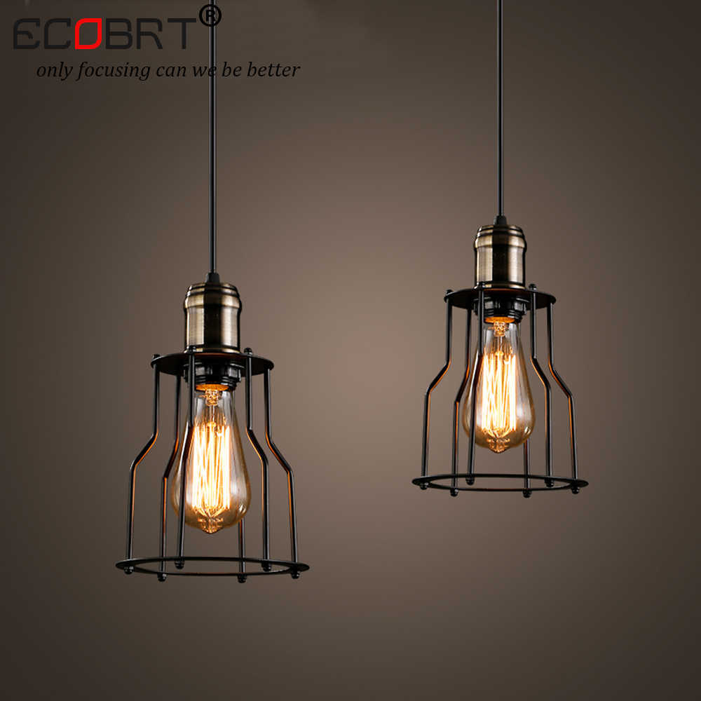 Detail feedback questions about ecobrt new modern style indoor lights vintage pendant lights for dinging room led e27 bulb iron lampshade lighting fixtures
