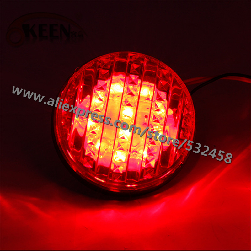 OKEEN Brand Automobiles Rear Lihgts Red Bumper Reflector Lights Tail Light Parking Warning Bumper Lamp For 2015 Toyota Sequoia