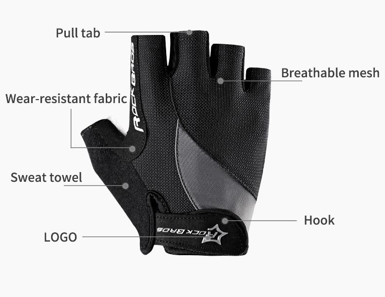 HTB121nZOH2pK1RjSZFsq6yNlXXaR - ROCKBROS Cycling Gloves MTB Road Gloves Mountain Bike Half Finger Gloves Men