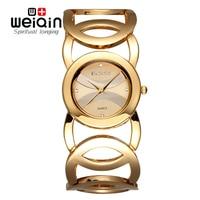 Luxury Women Watches Fashion Quartz Watch Hollow Bracelet Band Wristwatches WEIQIN Brand