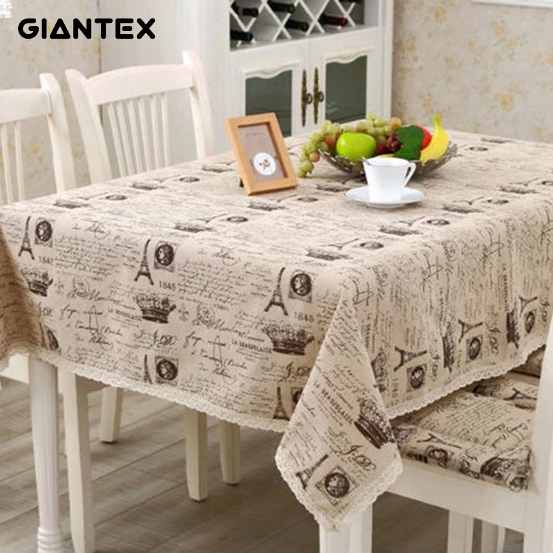 Tablecloths Home Textile Decorative Table Cloth Cotton Linen Tablecloth Rectangular Tablecloths Dining Table Cover Obrus Tafelkleed Mantel Mesa Nappe
