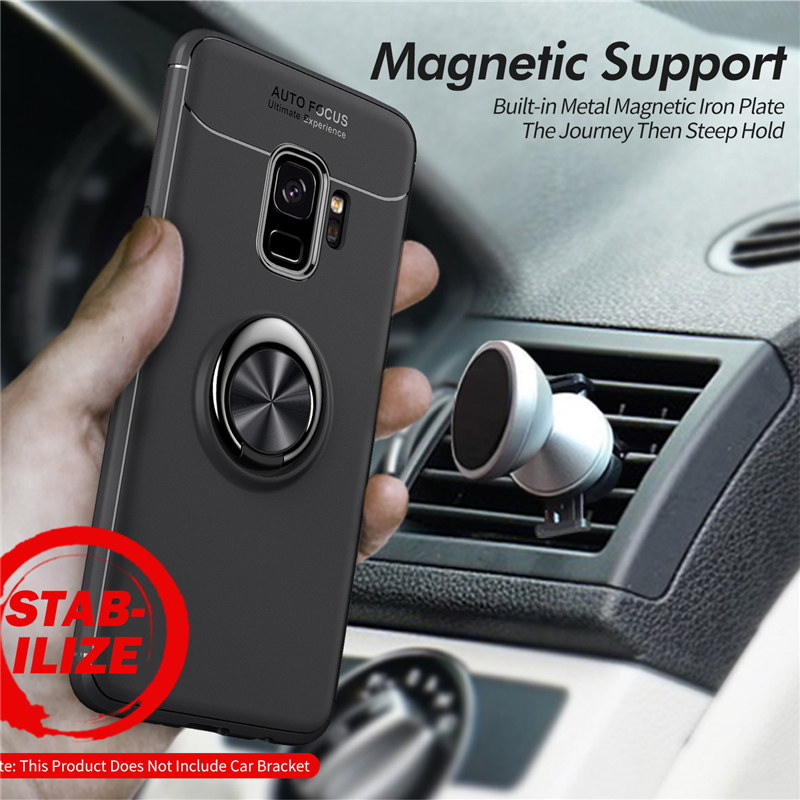 Car Holder Stand Magnetic Bracket Finger Ring TPU Case For SAMSUNG Galaxy S9 S8 Plus Note 8 J330 J530 J730 J4 J6 J8 A6 Plus 2018 (11)