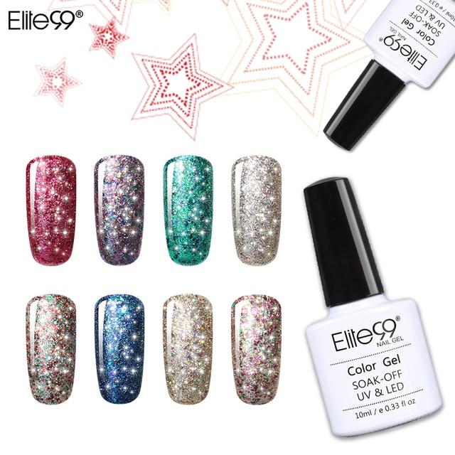 Elite99 10 ml Tränken Weg Von Sternen Gel 3D Wirkung UV LED Glitter Nagellack Maniküre Bling Gel Lack Polish für nagel Design 30 Farben