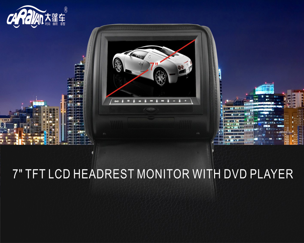 Caravan Best Quality Car Headrest Monitor High Resolution 800 480 Screen Styling In Monitors From Automobiles