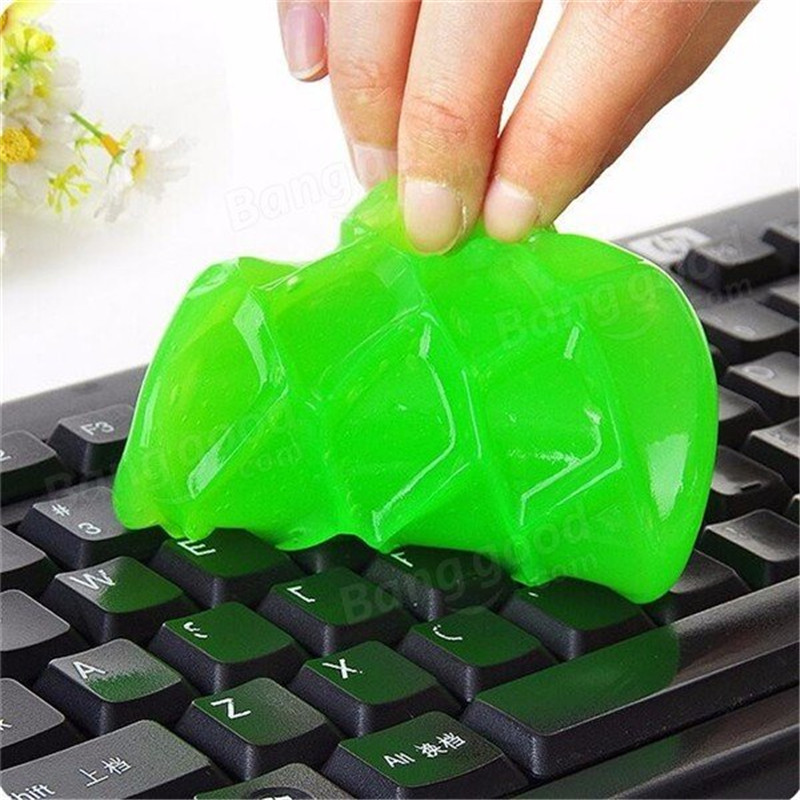 2pcs Keyboard Cleaning Gel Dust Cleaning Compound Wiper Dust Clean Practical Slimy Gel for Screen Mouse Car Computer Cleaner