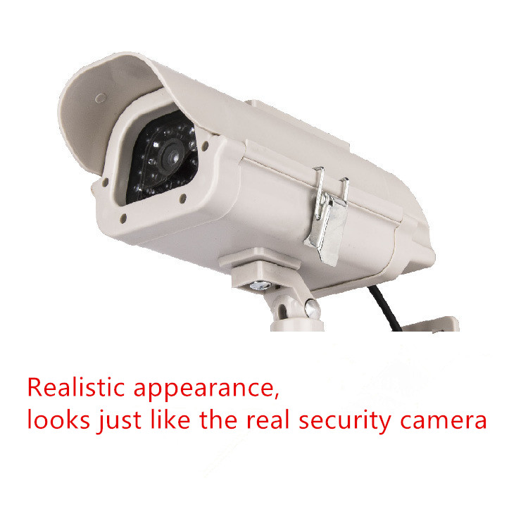 Solar gun type monitors Security Use Real Looking Dummy Fake CCTV Camera Security Camera with ABS