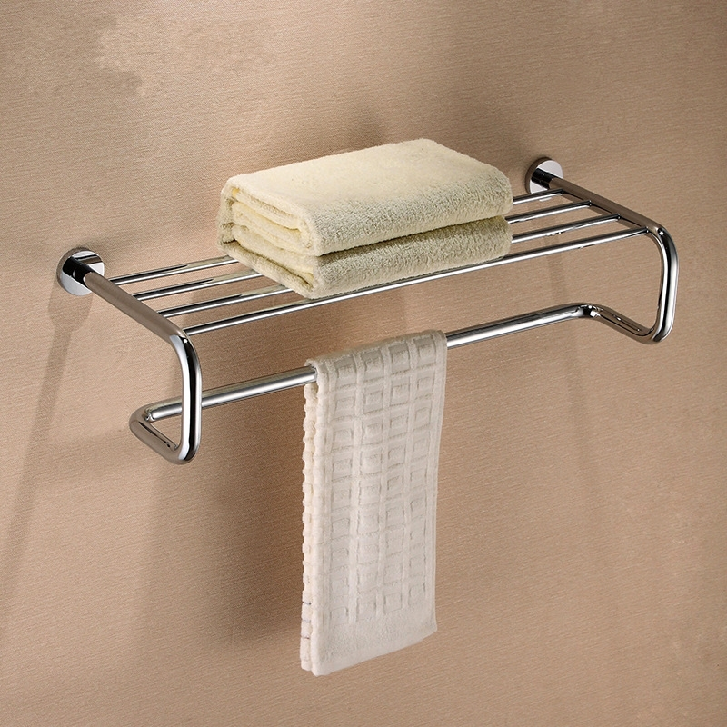 Bathroom accessories High quality chrome plating  brass bath towel holder Towel bar  Bathroom towel rack Bathroom shelf-K80922  цена