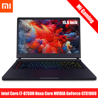 Original Xiaomi Mi Gaming Laptop 15.6'' Windows 10 Intel Core I7 8750H Hexa Core GTX 1060 16GB 512GB Notebook PC