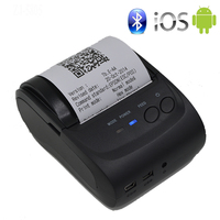 58mm Portable Mobile Printer Wireless Bluetooth Printer Mini Thermal Printer Support Android IOS