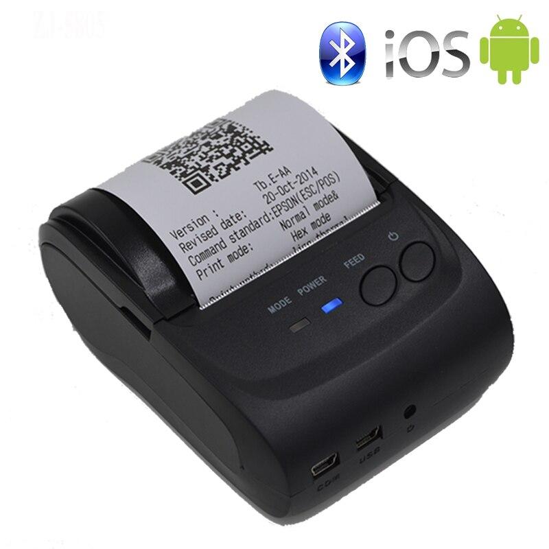 58mm Tragbare Mobile Drucker Drahtlose Bluetooth Drucker Mini Thermische Drucker Unterstützung Android + IOS