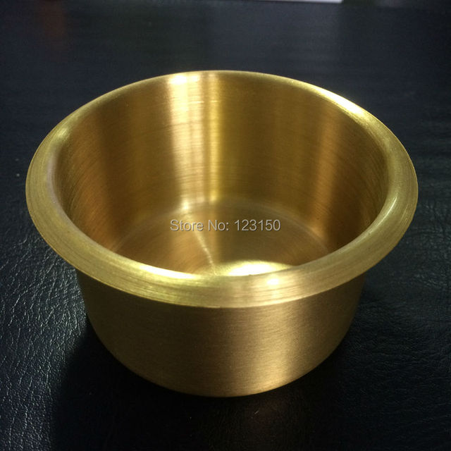 Merveilleux TB D Jumbo Cup Holder In Brass For Poker Table, Casino Accessories, 20pcs