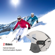 EJEAS SKI10 1000m Bluetooth SKI Helmet Intercom Headset Intercom Wireless Intercomunicador Interphone for 2 Skiers Freedconn недорого