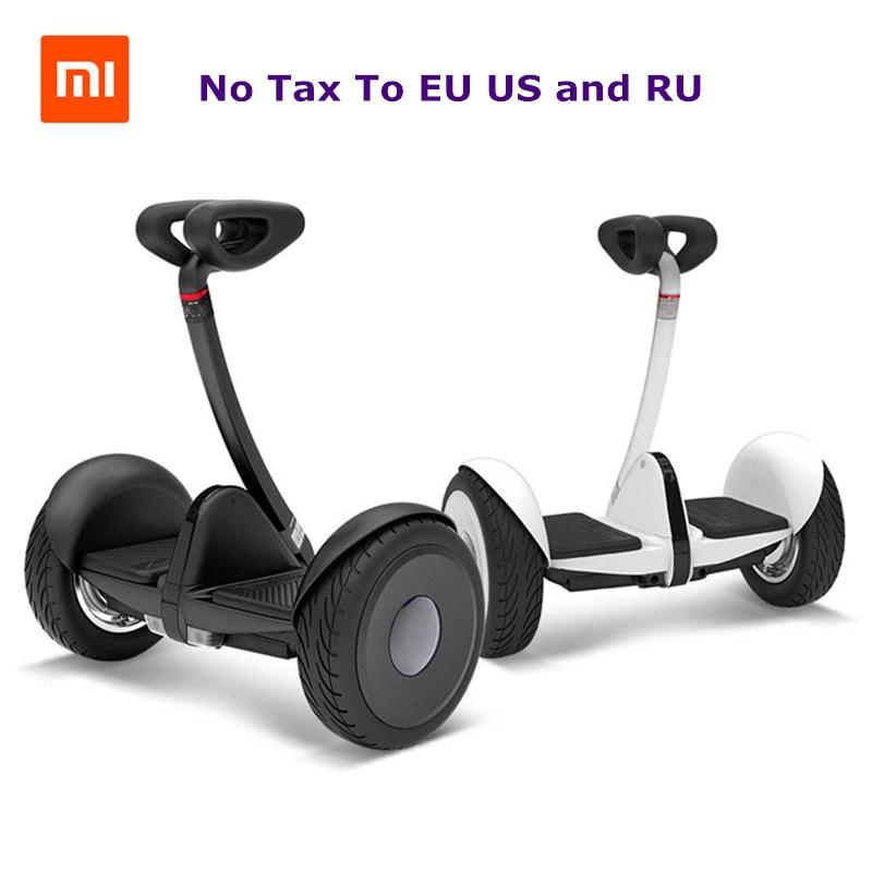 Original xiaomi mini ninebot intelligent auto équilibrage scooter électrique 2 deux roues hoverboard planche à roulettes 10 pouces vol stationnaire