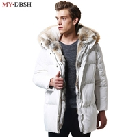 Winter Warm Hooded Men Down Jackets Casual X Long Duck Down Parkas Coats Thicken Outwear Casual