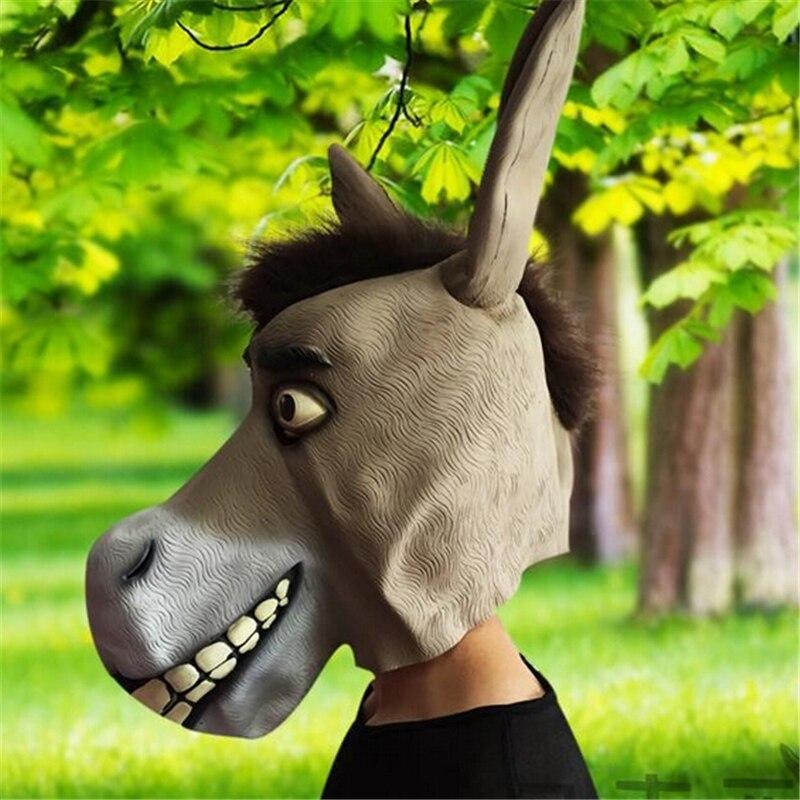En gros Grand Âne Cosplay Parti Horreur Masque Jour de Fou Halloween Party Afficher Prop Âne Tête Masque Mascarade