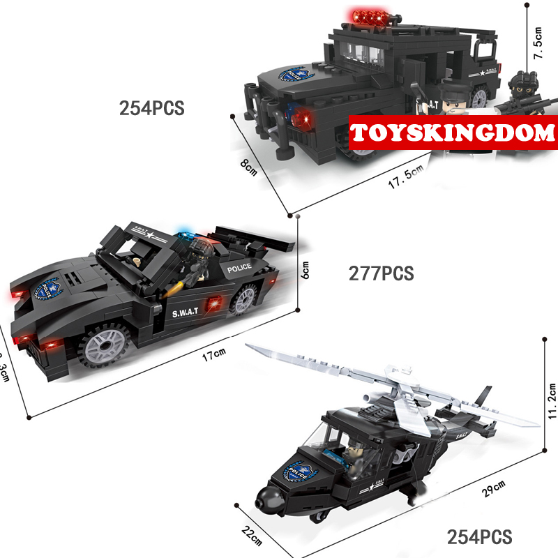 Hot city super police series building block policeman figures Armored car helicopter bricks model toys for children gifts compatible lepin city block police dog unit 60045 building bricks bela 10419 policeman toys for children 011