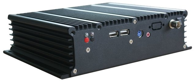 Yulian Embedded Fanless Mini Industrial PC Box/High Performance Build-in Mini Computer with 4 x RS232 Ports