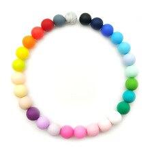 12 мм, силиконовые бусины, 10 шт., круглые детские бусины для прорезывания зубов, без бисфенола, Детские Силиконовые шарики для украшения ожерелья